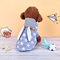 Liye 秋と冬のツーピース犬猫ベストセータースーツペット2足 (色 : Color4)