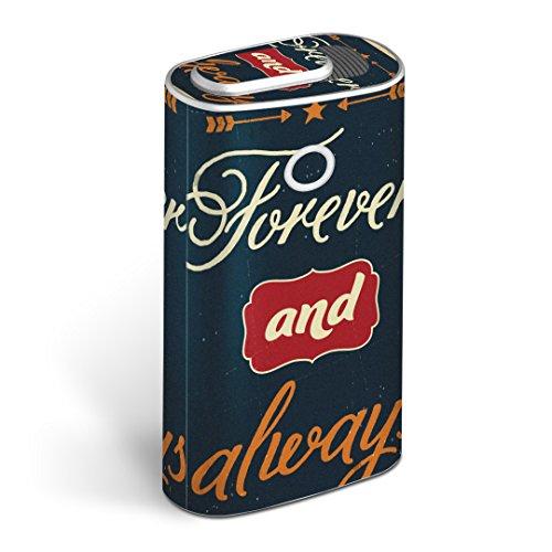 glo グロー グロウ 専用スキンシール 全面 + 天面 + 底面 360°フルセット カバー ケース 保護 フィルム ステッカー デコ アクセサリー 電子たばこ タバコ 煙草 デザイン 英語 文字 緑 010853