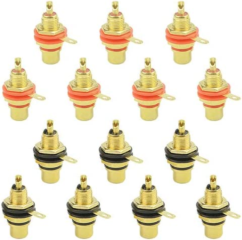 WMYCONCONG 14 PCS RCA Female At the price of surprise Phono Socket Dealing full price reduction Mount Panel Chassis Ja