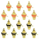 WMYCONCONG 14 PCS RCA Female Phono Panel Mount Chassis Socket Jack Connector for Amplifier Audio Terminal RCA Plug