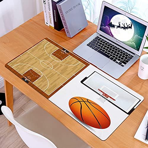 Alfombrilla Ratón Grande Gaming Mouse Cancha de Baloncesto Baloncesto y Tablero y aroBase de Goma, Portátil, Ordenador