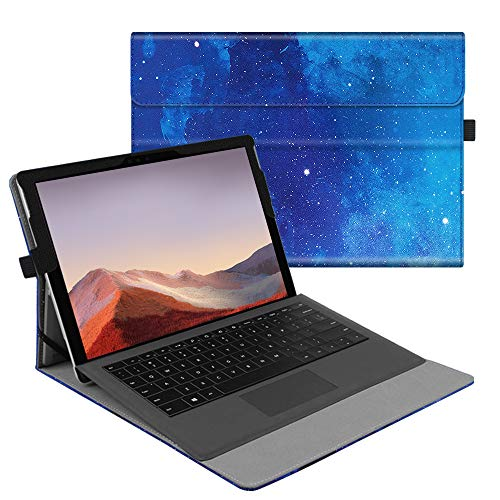 Fintie Case for New Microsoft Surface Pro 7 / Pro 6 / Pro 5 / Pro 4 / Pro 3 12.3 Inch Tablet - Multiple Angle Viewing Portfolio Business Cover, Compatible with Type Cover Keyboard (Starry Sky)