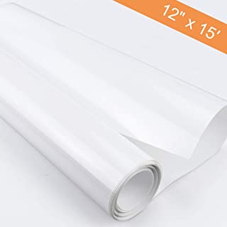 Heat Transfer Vinyl Roll,MSDADA Iron-on HTV for Clothes, T-Shirt, Craft DIY, 12 Inches by 15 Feet (White)