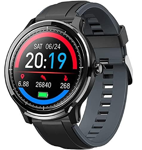 Smartwatch Orologio Intelligente con 1.3'' Schermo a colori tattile completo IP68 Fitness Tracker Cardiofrequenzimetro Pressione Sanguigna Monitor Ossigeno Nel Sangue Nuoto per Android e iOS