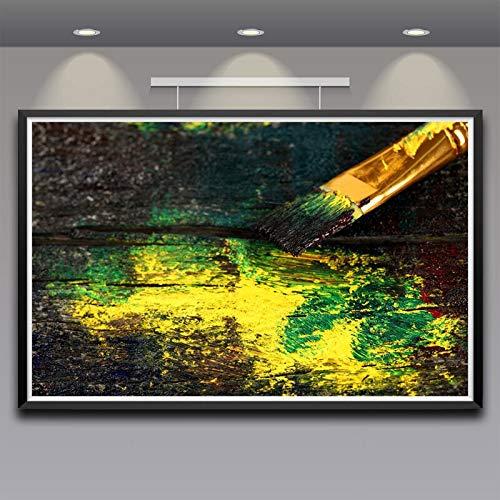 N / A Rahmenlose Malerei Kunstpinsel Holzkunst Seide Wandplakat Wohnkultur Malerei36X57cm