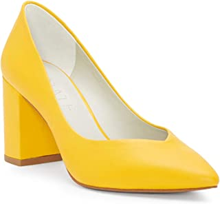1.STATE Womens Saffy Leather Pointed Toe Classic Pumps US