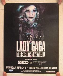 Lady Gaga Poster The Born This Way Ball