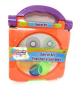 Spiral Art Kids Travel Kit Complete with carry case and handle for easy travel Different Size and Shape Spirals Perfect for long car rides or trips to the doctor Fun for everyone, and teaches spacial recognition