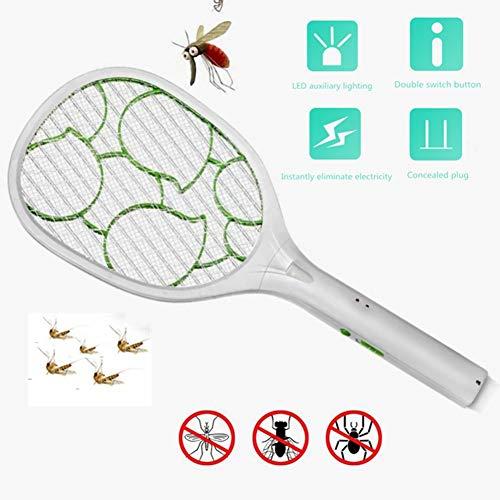 LMFLY Swatter Elektrische Mückenklatsche Lademodus Mit LED-Licht Elektrische Fliegenklatsche Große Maschenfläche 2200V Spannung Insektenvernichter Gesundheit und Sicherheit