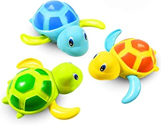 TALITARE Bath Toys Gifts for Year Old Toddlers Baby Bathtub Wind Up Turtle Toys for Months Baby Gifts for Year Old Boys Fl...