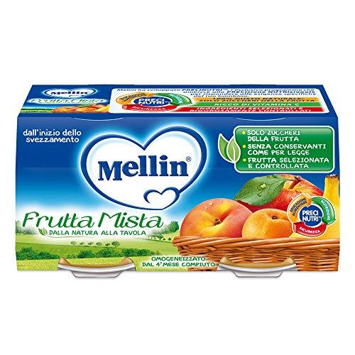 Mellin Omogeneizzato Frutta Mista - 12 Vasetti da 100 gr