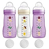 MAM Botellas de bebé 270 ml Easy Active Baby Bottle Set Girl
