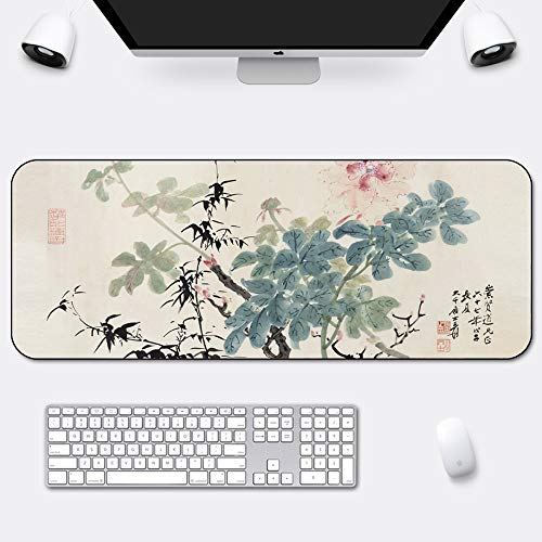 Size : 1200x600x5mm YILONG Gaming Mouse Pad 1200x600x5mm Large Computer Mouse Mat Office Desktop Keyboard Mousepad Non-Slip Rubber Base Water Resistant Stitched Edge