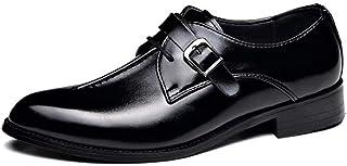 [Agogoo] 革靴 ビジネスシューズ モンクストラップ メンズシューズ 就活 通勤 疲れにくい 普通用