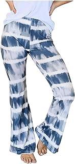 Pantalon de Chándal para Mujer Largos Pantalones,Pantalones Casuales de Cintura EláStica con Gradientes de Impresión de Ci...