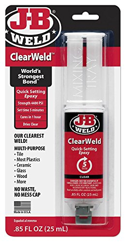 J-B Weld 50112 Clear 25 ml ClearWeld Quick-Setting...