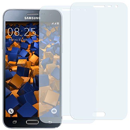 Preisvergleich Produktbild mumbi Schutzfolie kompatibel mit Samsung Galaxy J3 2016 Folie klar,  Displayschutzfolie (2X)