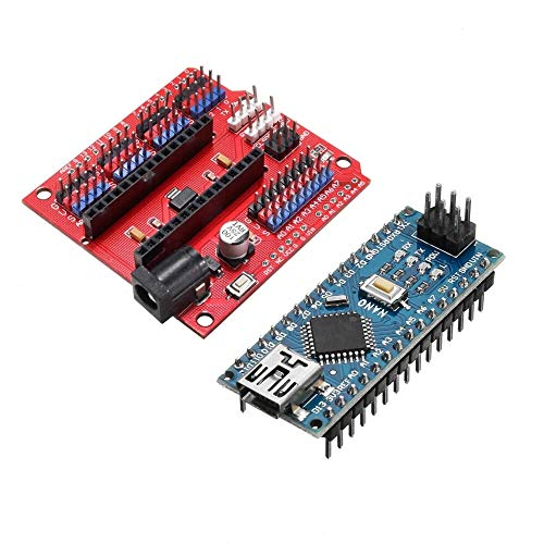 for Arduino - Products That Work with Official Boards,Funduino Nano Expansion Board + ATmega328P Nano V3 Improved Version Expansion Board Module