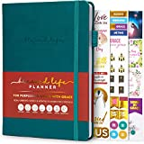 Blessed Life Planner – Weekly & Monthly Goal Planner for Christians – Life Organizer for Task Setting & Time Management – Bible Journal for Women & Men – Undated, 5.8x8.3″ Hardcover (Dark Teal)