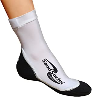 Sand Socks for Soccer, Volleyball, Snorkeling (Youth/Adult) Small White