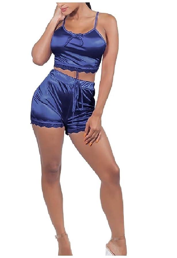 玉角度土曜日女性2ピーススリングプラスサイズセクシーセクシーカラーパンツホットパンツ