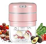 RILIWOY - Mini tritatutto elettrico, multifunzione, tritatutto per carne, verdure e frutta, 250 ml