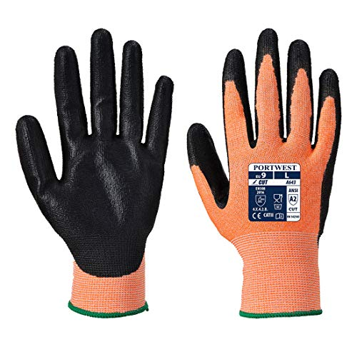Portwest Workwear Amber Cut 3 Handschuh, Small, bernsteinfarben, 1