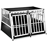 tectake 800350 Cage Box Caisse en Forme de Trapèze Aluminium - diverses Modèles (104x91x69,4cm | No. 402226)