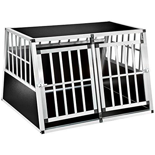 TecTake Box per trasporto cani alluminio trapezoidale - modelli differenti - (104x90,5x71cm | No. 402226-7)