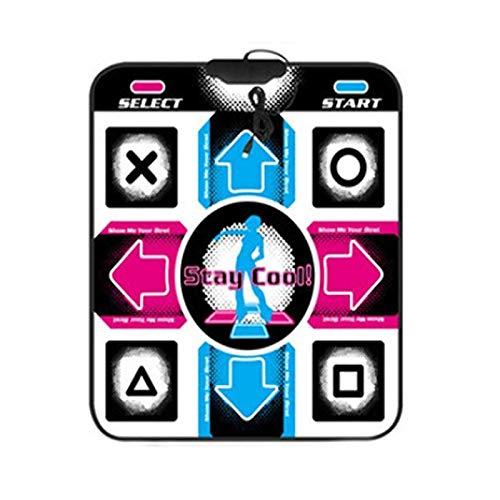 WYFDC Tanzpad Tanzen Schritt Tanzmatten Pad Pads Tänzerin Deckenausrüstung HD rutschfeste Matte Zum PC Mit USB-Tanzmatte