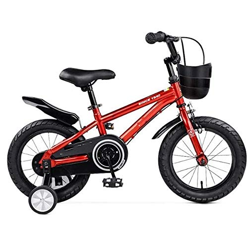 Read About FQCD Kids Bike, Boy's Girl's Kids Children Bike Child Bicycle with Hand Brake and Basket for 3-9 Years Toddle with Fenders with Training Wheel 12-14-16-Inch (Color : Red, Size : 16 inch)