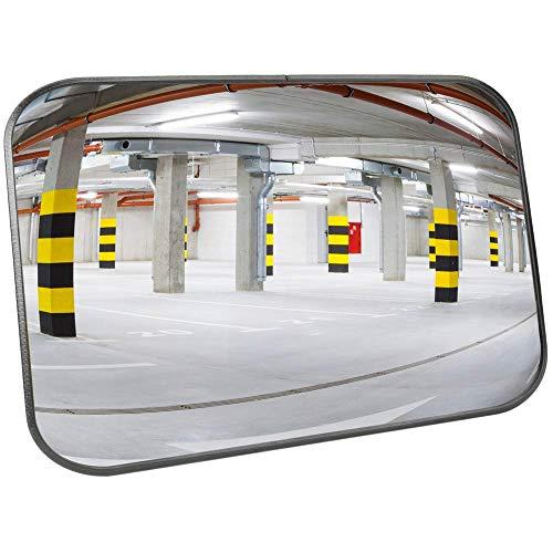 PrimeMatik - Specchio Convesso di Segnalazione e la Sicurezza 60x40 cm Rettangolare