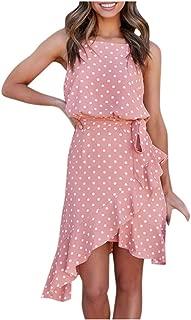 Kiyotoo Women's Adjustable Strappy Split Summer Beach Casual Midi Dress Asymmetrical High Low Bohemian Party Maxi Dress