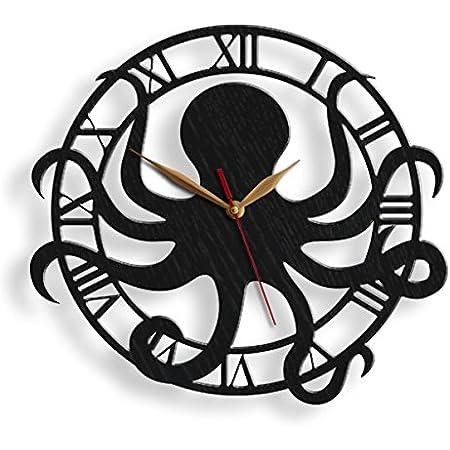 wooden clocks sea life wall art Octopus clock octopus gifts for women octopus gift for man sea life wall art custom clocks for wall