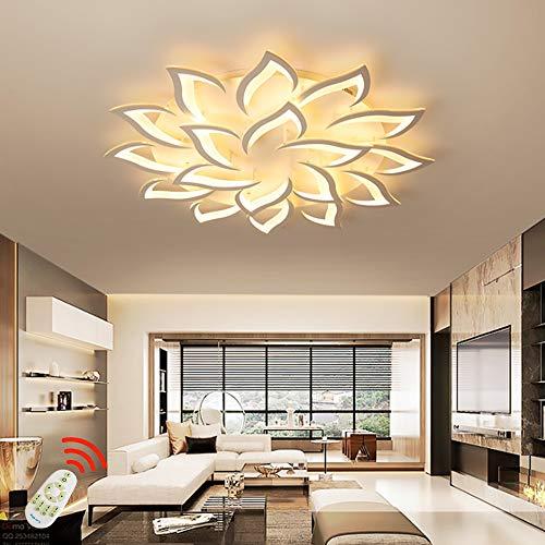 Petal Creative LED Luz Techo Regulable Lámpara De Techo Iluminación Interior Para Dormitorio Sala De Estar Con Control Remoto Cocina Comedor Pantalla De Acrílico Lámpara De Araña Decorativa,18 heads
