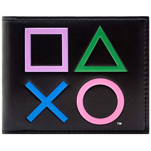 Playstation2 Steuerungssymbole Schwarz Portemonnaie Geldbörse