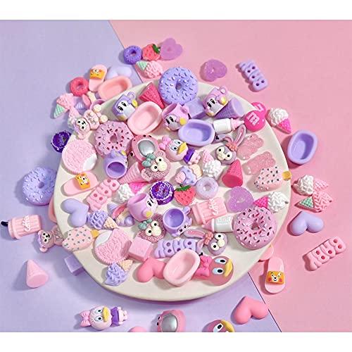 Accesorios de resina, horquilla accesorios de papelería, simulación de pegamento crema DIY teléfono móvil caja de resina accesorios (polvo púrpura)