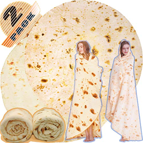 Innocedear Burritos Blanket,2 Pack Double Side Flannel Tortilla Blanket 71 inches,Comfortable Soft...