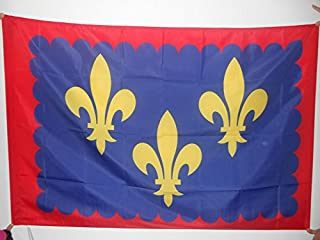 AZ FLAG French Province of Anjou Flag 3' x 5' for a Pole - France Province Flags 90 x 150 cm - Banner 3x5 ft with Hole