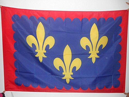 AZ FLAG Bandera de la Provincia DE Anjou 150x90cm para Palo - Bandera Province D'Anjou - Francia 90 x 150 cm