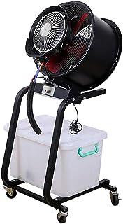 Ventilador nebulizador, Ventilador industrial, ventilador de niebla al aire libre, ventilador de niebla oscilante, tanque de agua de 60 litros Ideal para camping, patios, picnics, fábricas, jardines