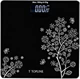 Best Bathroom Weighing Scales - T TOPLINE Electronic Thick Tempered Glass LCD Display Review