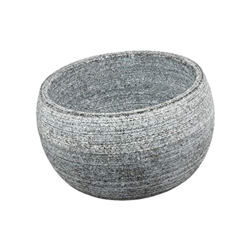 Healifty Rasierschale für Männer Naturgranit Steinschale Rasierschaum Tasse Tasse Seifenbehälter für zu Hause Badezimmer Grau