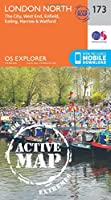 London North, The City, West End, Enfield, Ealing, Harrow & Watford (OS Explorer Active Map)