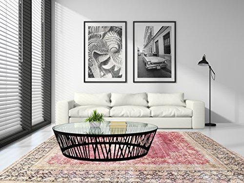 Miss Cucci iranischer Teppich, überfärbt, im Vintage-Stil 373_x_275