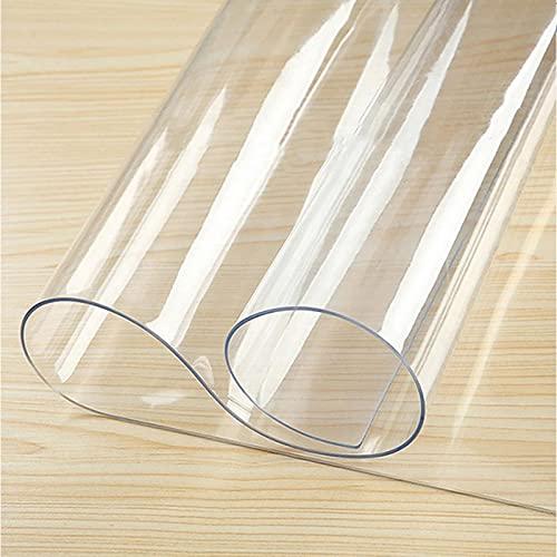 MAOYUAN Mantel de PVC Impermeable Transparente, Utilizado para Proteger la Cocina, el Comedor, el Mantel, la protección del Suelo y la Mesa de Oficina, 70 x 150 cm