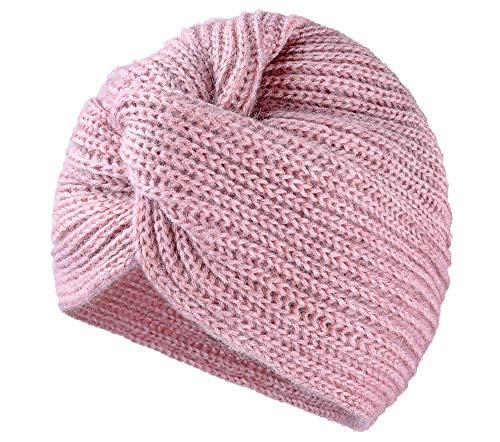 MFAZ Morefaz Ltd Mujer Chemo Cáncer Cabeza Bufanda Sombrero Gorro Étnico Paño Imprimir Turbante Mohair de Lana (Rose Pink)