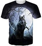 Idgreatim Unisex Casual 3D Print Tier Kurzarm T-Shirt Grafik T-Shirts