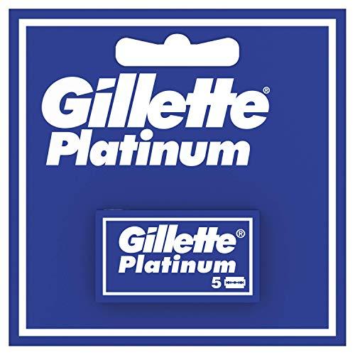 Gillette Platinum Rasoio a Doppia Lama, Confezione da 5