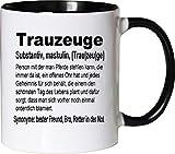 Mister Merchandise Kaffeebecher Tasse Trauzeuge Definition Buddy Bro Buddies Freundschaft Helfer BFF...
